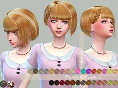 Studio K Creation: Animate hairstyle 68 - Chika • Sims 4 Downloads