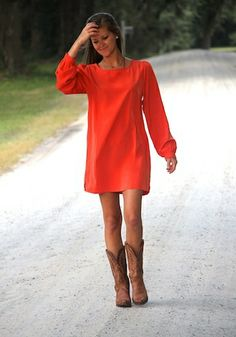 "simple dress? If it's THAT simple I'll start wearing all of my hubby's shirts with boots and call it ""a cute dress outfit""....ummm, no"