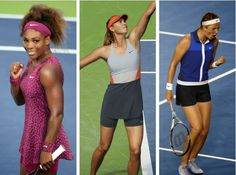Check out the looks Serena Williams, Maria Sharapova, and Victoria Azarenka will be working at this year's US Open.