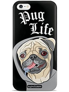 Inspired Cases 3D Textured Pug Life Humor Funny Dog Case for iPhone 6 Plus & 6s Plus ❤ Inspired Cases