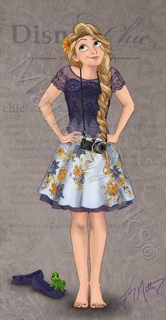 Disney chic -> Raiponce
