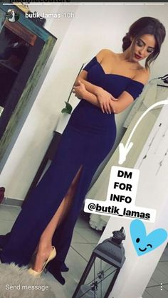 New Arrival Sexy Off the Shoulder Royal Blue Mermaid Long Evening Dress with Slit H0109 - Thumbnail 1
