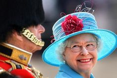 Britain's Queen Elizabeth II smiles at Prince Philip on Horse Guards Parade in London during the annual Trooping the Colour parade Saturday June Elizabeth Philip, Queen Elizabeth Ii, Commonwealth, Prinz Philip, Queen 90th Birthday, Happy Birthday, Royal Marriage, Horse Guards Parade, Bretagne