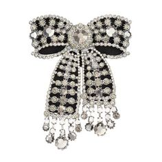 Beautifully embellished with simulated crystals, this Simply Vera Vera Wang bow pin offers a dazzling update to your favorite ensemble. Lace Bows, Ribbon Bows, Ribbons, Diy Clothes Design, Vintage Jewelry Crafts, Fabric Brooch, Cute Swag Outfits, Wedding Headband, Diy Hair Accessories