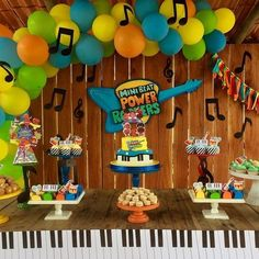 1 Year Old Birthday Party, Baby Birthday, Birthday Party Decorations, Magic Theme, Magic Party, Rockers, Music Themed Cakes, Baby Candy, Baby Rocker