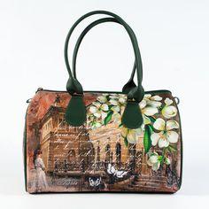 Top Handle Printed Purse, Blanche Barrel Bag, Ladies Designer Handbag, Unique Handmade Bag, Women Fashion Handbag, Casual Day Bag, 5044