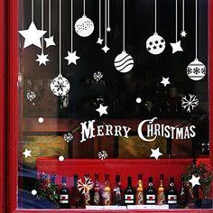 extsud 2, papier peint de Noël Removable Sticker mural Sticker Autocollant de joyeux Noël Décor de Noël Stickers muraux sticker mural…