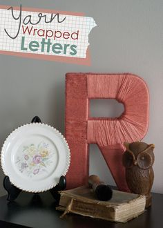 DIY: yarn wrapped letters
