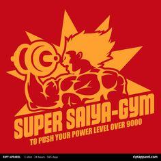 Super Saiya-Gym T-Shirt $10 Dragon Ball tee at RIPT today only!