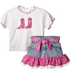 Bandana Shirt & Skirt Set|