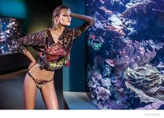 Toni Garrn Gets Aquatic for Agua de Coco Beachwear 2015 Ads