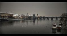 winter Prague - null