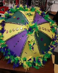 Mardi Gras Second line umbrella - Welcome to our website, We hope you are satisfied with the content we offer. Mardi Gras Party Theme, Mardi Gras Float, Mardi Gras Centerpieces, Mardi Gras Decorations, Umbrella Decorations, Mardi Gras Outfits, Mardi Gras Costumes, Mardi Gras Wreath, Mardi Gras Beads