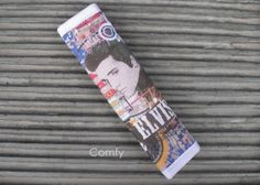 Seat Belt Strap Cover; Elvis Presley Custom Designed Fabric by Comfy Accessories