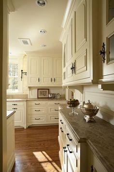 White kitchen, marble countertop
