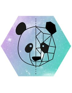 Camiseta Panda geometrico do Studio Marcellaguerra por R$65,00