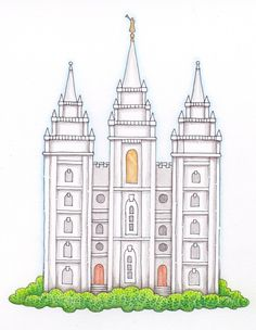 free LDS clip art and illustrations Temple Drawing, Lds Clipart, Lds Temple Pictures, Lds Primary, Primary Music, Primary Lessons, Salt Lake Temple, Lds Temples, Mormon Temples