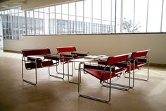 Bauhaus building - Wassily Chairs by Marcel Breuer (1925/26)