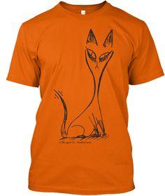 Cat Orange T-Shirt Front