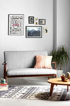 Sterling Wood Frame Sofa - Urban Outfitters. Front room