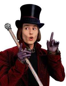 johnny depp as willie wonka