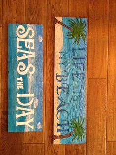 More beach signs