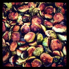 Ummmm?! Yum!!  Don't think I'll make Brussle Sprouts any other way!  :: Roasted Brussle Sprouts with Balsamic Vinegar, Olive Oil and salt & pepper to taste::