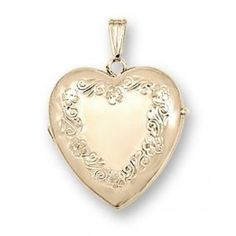 Solid 14K Yellow Gold Heart Four Photo Locket - PG71166