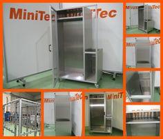 Armario para control de líquidos realizado con perfil de aluminio y accesorios MiniTec.http://bit.ly/2f3lHuu