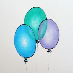 Transparent Balloons | Step-by-step copic coloring tutorial by Michelle Houghton | GetItScrapped.com/blog