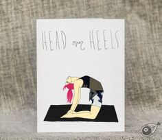 Camel . Yoga . Greeting Card . Stationery . Kraft by TAYHAMS, $5.00