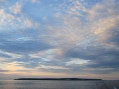 Sunset upon leaving Mackinac Island