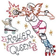 Image detail for -Roller Derby Embroidery Patterns | Fracture Magazine