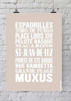 Affiche Bord de mer «Saint-Jean-de-Luz»