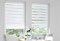 Double roller blind, K-home, Woodworking Guide, Custom Woodworking, Woodworking Projects Plans, Furniture Plans, Kitchen Furniture, Double Roller Blinds, Garden Furniture Design, Garden Office, Roller Shades
