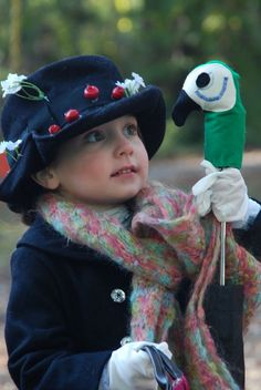 Handmade Mary Poppin Costume -- adorable!