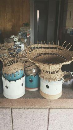 Woven pots by Tracy Wilkinson