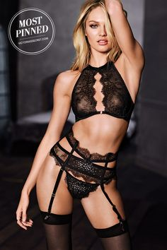 One word: Seduction. | Victoria's Secret Chantilly Lace Halter Bra