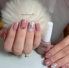 40 glitter gel nail designs for short nails for spring 2019 page 16 Glitter Gel Nails, Nude Nails, Acrylic Nails, Stylish Nails, Trendy Nails, Glamour Nails, Nail Designer, Nails Only, Dream Nails
