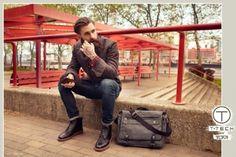 Medium_landscape Bearded Tattooed Men, Bearded Men, Ricki Hall, Hot Beards, Model Agency, Male Models, Hot Guys, Satchel, Handsome