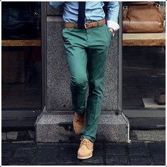 Green #pants are quite a modern innovation.