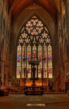 Ripon Cathedral, oldest Christian Church in England Sacred Architecture, Church Architecture, Beautiful Architecture, Beautiful Buildings, Ripon Cathedral, Cathedral Church, York Minster, Take Me To Church, Church Windows