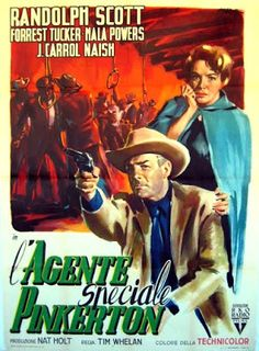 The biggest private known exhibition of movie posters. Western Film, Western Movies, Western Art, Rhonda Fleming, Randolph Scott, Le Far West, Film Posters, Vintage Movies, American Actors