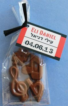 Chocolate Favors - Music Notes - Gift Bags Set the right tone for your musical themed event.                                                                                                                                                                                 More