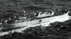 WW2: Survivors tales of covered up disaster. The LST 507, pictured at sea en route to England, was ravaged by fire during the German attack. On April 28, 1944, four German E-Boats opened fire on a convoy of eight US ships that were making their way to Lyme Bay on England's south coast in a practice exercise ahead of the D-Day landings. The disaster that followed - in which about 800 servicemen lost their lives - was deemed by US top brass to be so grave they ordered a complete information...