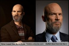 Victor Losset from Nancy Drew Totally Looks Like Obadiah Stane from Iron Man 1