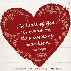 """The ❤ heart of ✝God is moved by the wounds of mankind."" - Lisa Harper  @lisadharper #lifewaywomen @lifeway @lifewaywomen #gospelofmarkstudy"
