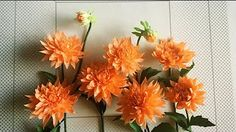 How To Make Turnera Ulmifolia Flower From Crepe Paper - Craft Tutorial - YouTube