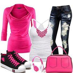 Kick back pink