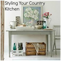 Tips for styling a country kitchen on #styleilluminated